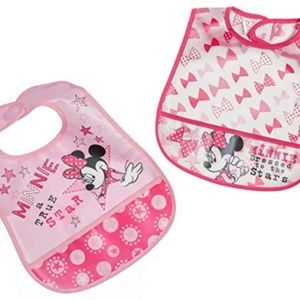 NEW Bibs Minnie Mouse Disney Crumb Catcher Pink